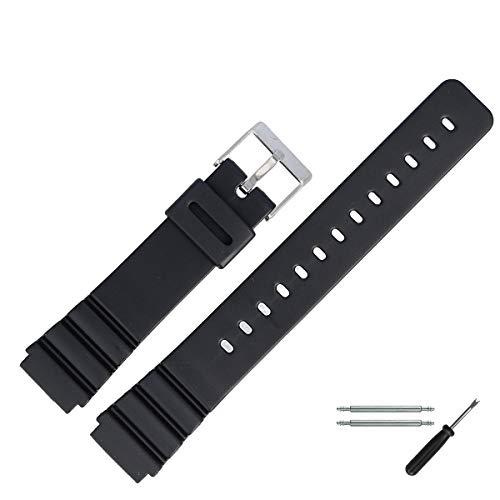 MARBURGER Uhrenarmband 20 mm Kunststoff Schwarz - 9602070300520
