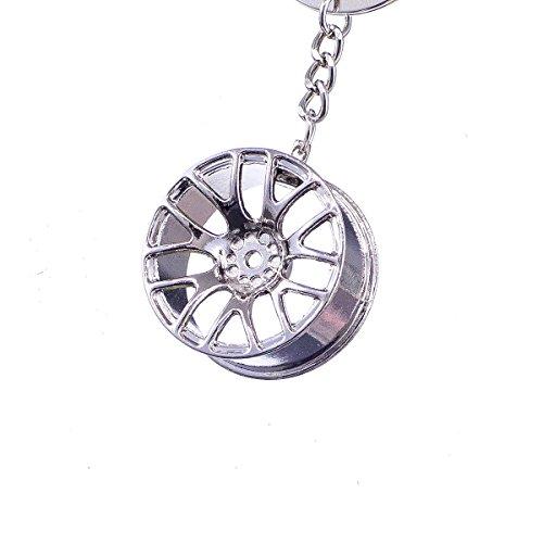 """Valentinstag Bmw (nanomondo Schlüsselanhänger """"Alufelge Chrom"""" aus Metall N1104)"""