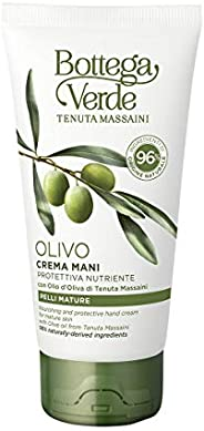 Bottega Verde, Crema Mani Olivo, Protettiva e Nutriente, con Olio d'Oliva di Tenuta Massaini, Pelli Mature