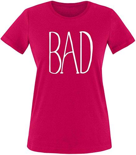 EZYshirt® BAD Damen Rundhals T-Shirt Sorbet/Weiss