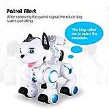 WOSOSYEYO K10 Smart RC Dog Dance Patrol Fernbedienung Roboter Hund Elektronische Pet Kid Spielzeug Weiß