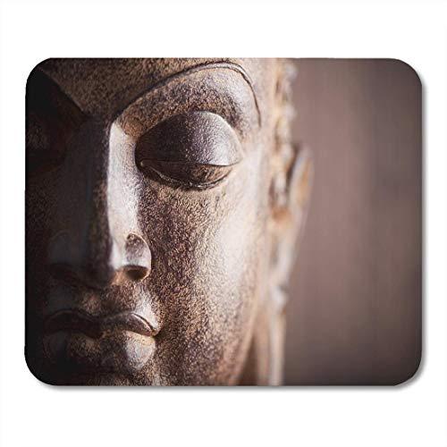 Alfombrillas ratón Buddah Brown Zen Cara Buda Cabeza