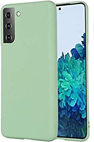 YoYoTech Silicone Protective Case Cover designed for Samsung Galaxy S21 Case Soft Liquid Rubber Gel Matte Fini