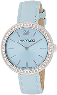 Swarovski Daytime Women's Blue Dial Leather Band Watch - 509