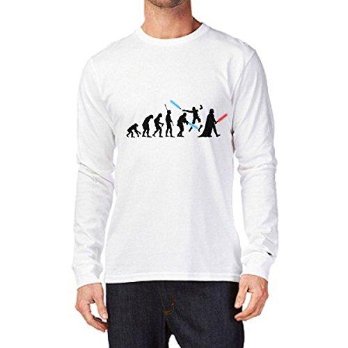 t-shirt manica lunga Star wars Evolution, Spade, Battaglia Darth guerre stellari S M L XL XXL uomo donna bambino maglietta by tshirteria