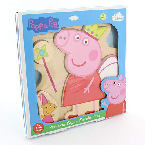 290a0849f23b Milly & Flynn Peppa Pig Princess Wooden Puzzle Tray