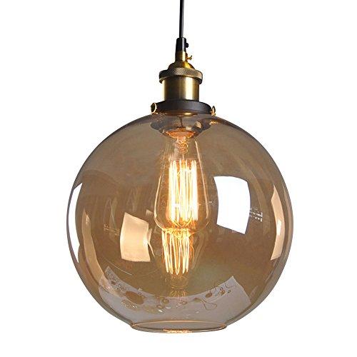 Cozyle Industrieller Vintage Industrieller Lampenschirm Glas Lampenschirm Hängeleuchte für Home Office Schlafzimmer Coffee Shop Klassisch Amber Ball -