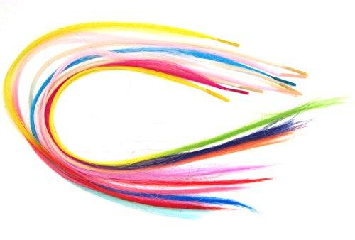 406cm-deux-tons-pinces-cheveux-plumes-10couleurs-sans-fixation-micro-bead-choisissez-1-50plumes-rose