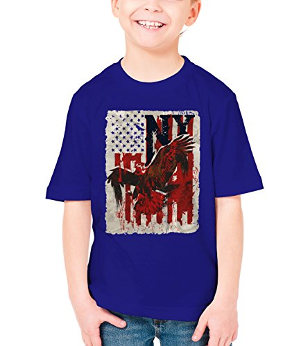 three-monkeys-american-eagle-animals-collection-boys-classic-crew-neck-t-shirt-dark-blue-x-large