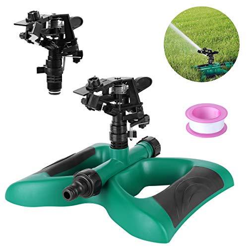 FIXKIT Rasensprenger, Automatische 360 Grad Garten Sprinkler mit Auswirkungs Sprinkler geeignet für Rasen, Pflanzen, Blumen, Gemüse