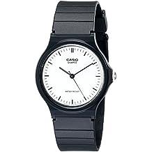 Casio Men's Classic Analog MQ24-7E Black Resin Quartz Watch with White Dial