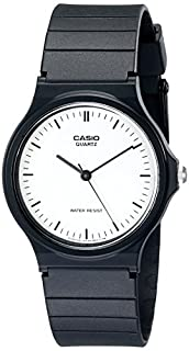 Casio Men's Classic Analog MQ24-7E Black Resin Quartz Watch with White Dial (B00065FWR0) | Amazon price tracker / tracking, Amazon price history charts, Amazon price watches, Amazon price drop alerts