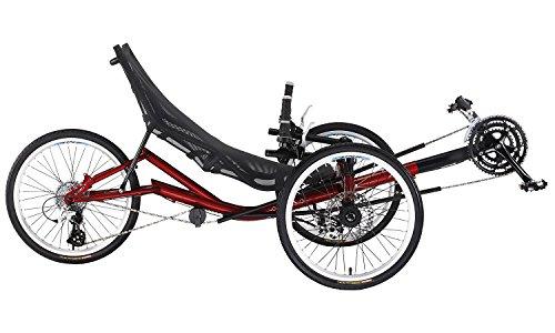 Liegerad T3 CX für Erwachsene, mit Mesh-Sport-Sitz, 150 kg Tragfähigkeit, 24-Gang Schaltung, 20 Zoll Reifen, Trike / Tadpole / Dreirad / Fahrrad