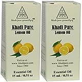 Khadi Pure Herbal Lemon Essential Oil - 15ml (Set of 2)