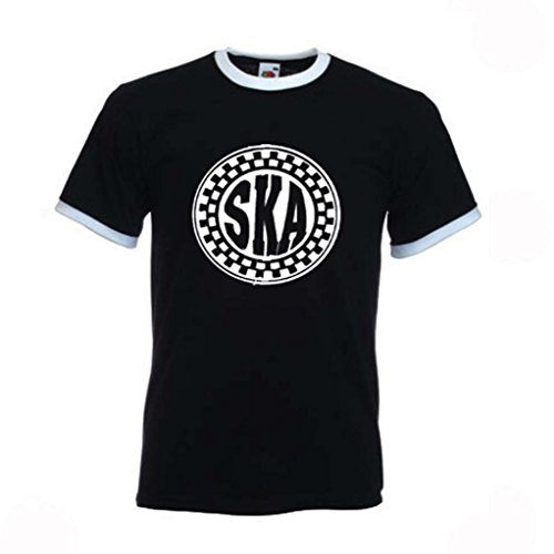Ska Round Logo Ringer T-Shirt for Men