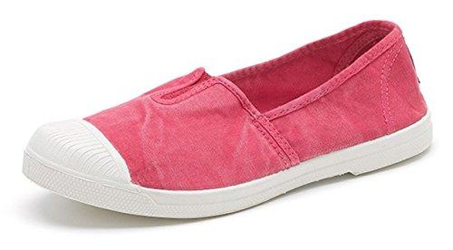 Natural World Eco – 106E VEGANE Getöne Sportliche Stiefel Sportliche Turnschuhe für Damen Umweltfreundlich Leinen Canvas - AUSGEWASCHENER Stil – erhältlich in Vielen Farben