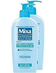 MIXA Lait pour Corps Fondant Hydratation 48H pour Peaux Sèches/Déshydratées 250 ml - Lot de 2