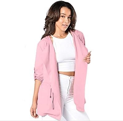 Tongshi Caliente las mujeres capa de la chaqueta con capucha larga de la manera Trench rompevientos Outwear Parka
