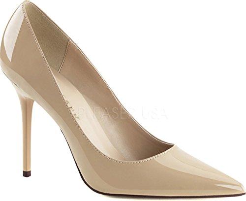 Pleaser  CLASSIQUE-20, Chaussures à talons - Avant du pieds couvert femmes Cream Pat