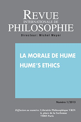 Revue Internationale de Philosophie 263 (1-2013) la Morale de Hume