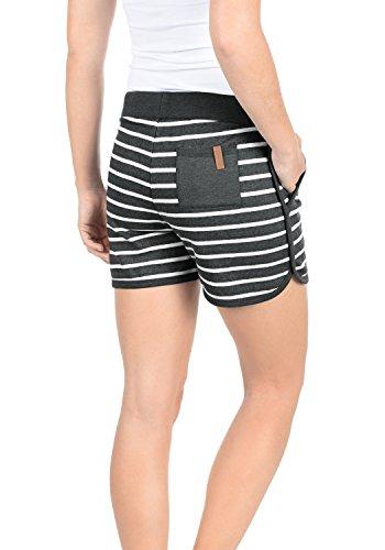 BLEND SHE Kira Damen SweatShorts kurze Hose Sporthose aus hochwertiger  Baumwollmischung Charcoal 70818 74689bffae