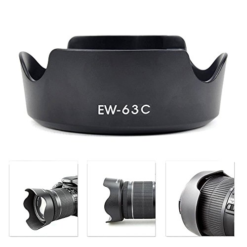 Y&M Pare-soleil Canon EW-63C pour objectif EF-S 18–55mm f/3.5–5.6IS STM