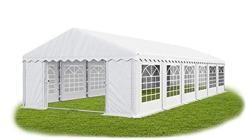Das Company Partyzelt 6x12m wasserdicht weiß mit Bodenrahmen Zelt 240g/m² PE Plane hochwertig Gartenzelt Summer Floor PE