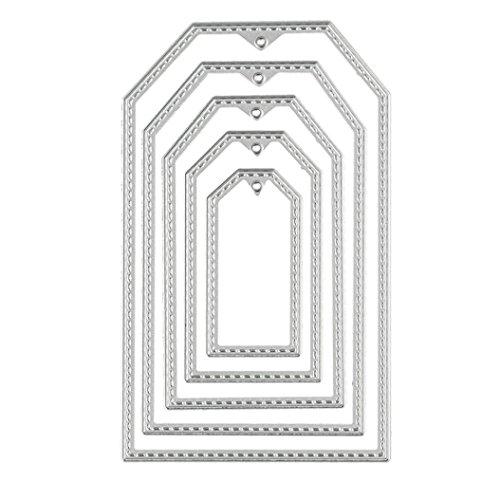 Stanzschablone, FNKDOR Metall Schneiden Schablonen für Scrapbooking (A)
