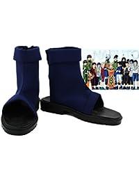 Naruto Konoha Villaggio Ninja Shippuuden Cosplay Ninja scarpe/sandali scarpe Kakashi Stivali Costume Costume Accessori Nero, nero, Taglia 42