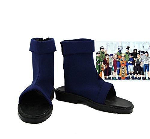 Naruto Anime Uzumaki Naruto Ninja Cosplay Schuhe Reinigungstuch Stiefel Custom Made 2, Herren Jungen, blau