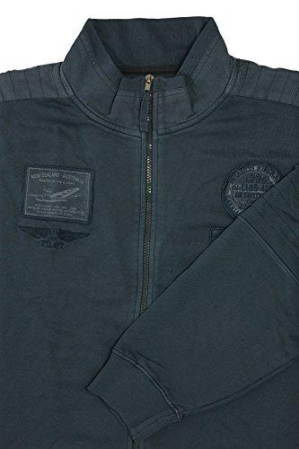 KITARO Vintage Sweatjacke - bis 8XL Blau