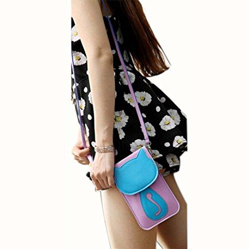 Malloom® Ragazza Donne Mini Borse a spalla PU cuoio borsa per Telefono Portafoglio Viola