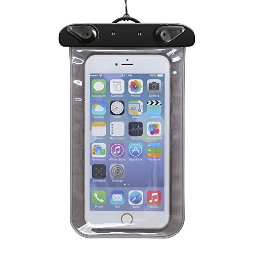Custodia impermeabile per immersione-Fascia da braccio e custodia per dispositivi iPhone, Samsung, MP3, UKStock blu nero