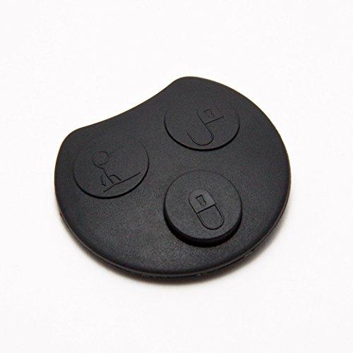 INION® MBENZKS17- SET- Gummipad mit 3 Tasten ERSATZTASTE für Auto Schlüssel Tastenfeld Gummitasten + 2x Stück KFZ Autobirnen 12V T10 Sockel -