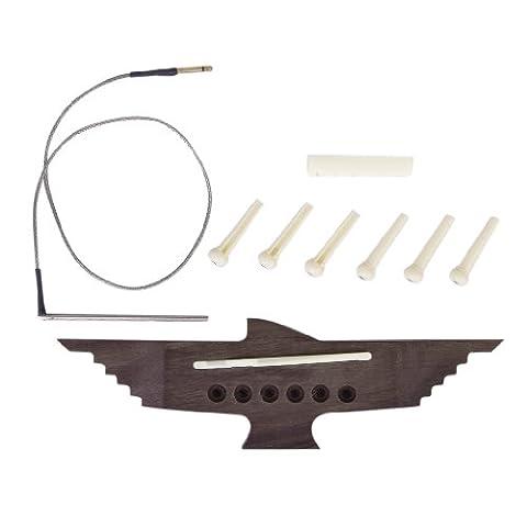 6 Cordes De Guitare Acoustique Pont Piézo Broches De Ramassage Selle Ensemble écrou