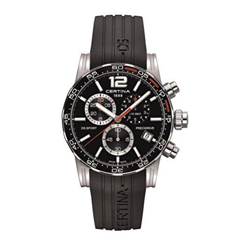 Certina DS Sport Herren-Armbanduhr Armband Silikon Batterie C027.417.17.057.02