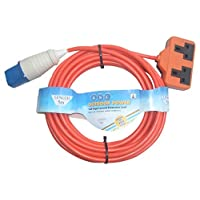 Aerials Satellites and Cables 5 m Twin Socket Caravan Mains Hook Up Cable 1