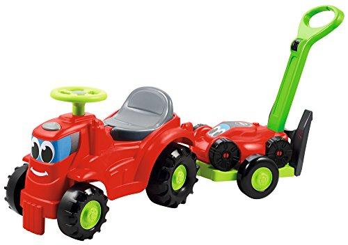 Smoby (SMOBH))- Tractor con Remolque Que Incluye cortacésped, Color Negro, Verde, Gris, Rojo (350
