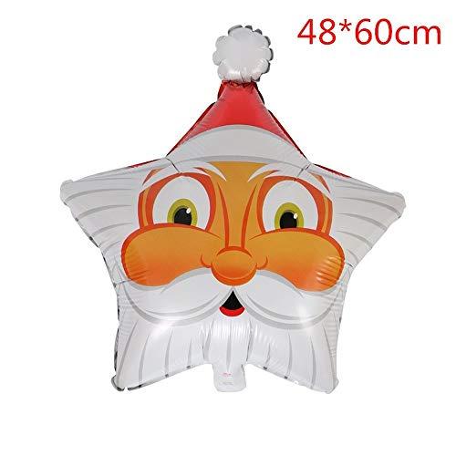 Pivica 1Pc Weihnachtsfeiertage Dekoration Federballons Adorable Ballons as Xmas Supplies Santa Claus, Snowman, Weihnachtsbaum -