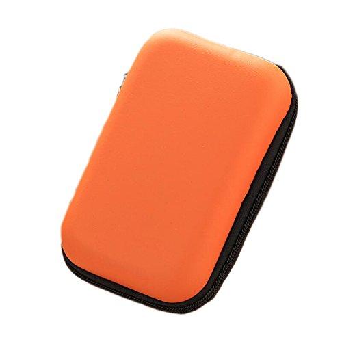 Ipod Nano In-ear-headset (Dosige Kopfhörer Tasche Earphone Case Aufbewahrungstasche für Headset/In Ear Ohrhörer/ MP3 Player/iPod/Nano/Schlüssel Orange)