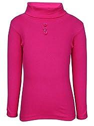 Bio Kid Full Sleeve Solid Pink Girls Sweatshirt