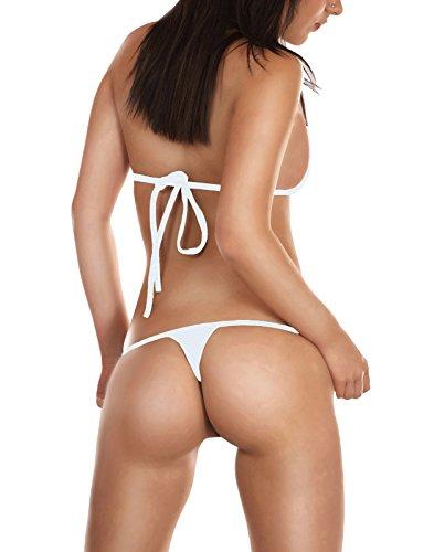Sohimary MINI PERIZOMA 417 TANGA STRING PRODOTTO IN GERMANIA bikini bianco 221