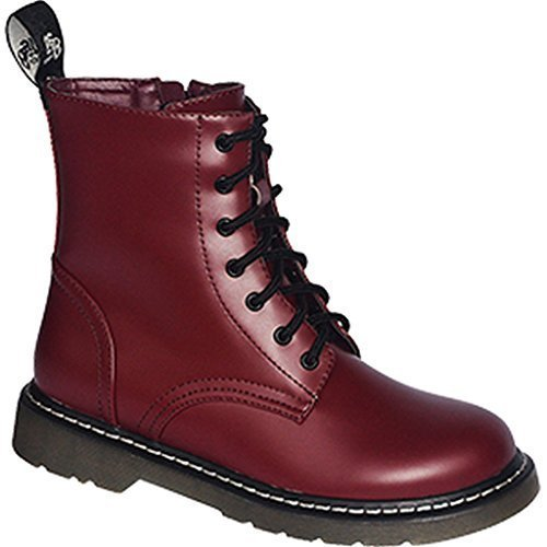 Commando Industries Knightsbridge 7 Loch Stiefel Dark Creationz Springertstiefel UK Gothic Boots 37-46 (43/9, Oxblood)