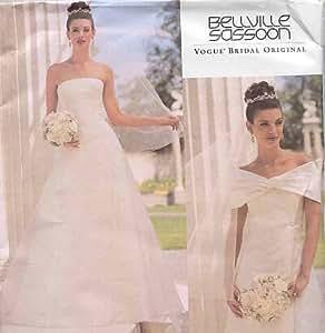 Vogue Patterns 2717Patron de Petite robe de mariée avec motif train et drapé à coudre taille 12–14–16