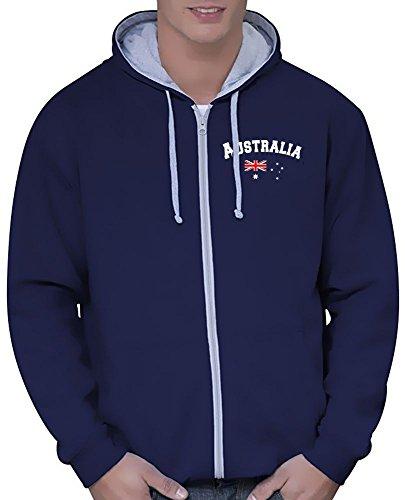 Coole-Fun-T-Shirts Australien Sweatshirtjacke Varsity Jacke navy, Gr.S