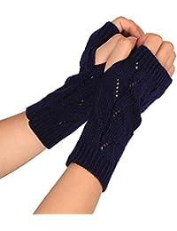 Finger Handschuhe Mädchen Warm Arm Schnee Muster Stricken Für Frauen Lange Geschenk Winter Damen-accessoires