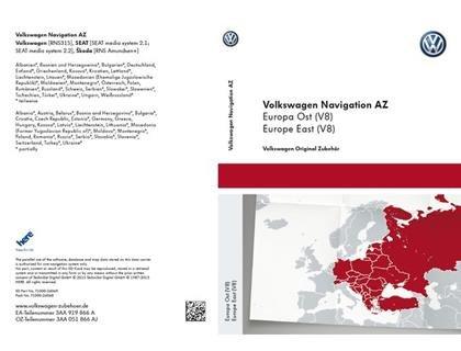 Preisvergleich Produktbild VW SD-Karte Osteuropa für RNS 315,  Version V8-3AA051866AJ