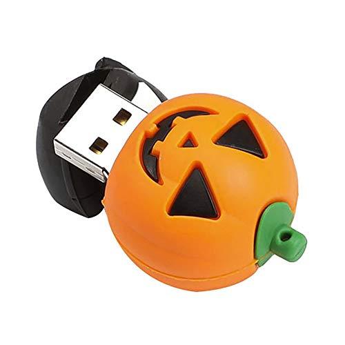 ürbis Halloweens, Disk USB 2.0 4GB,8GB,16GB,32GB,64GB Mini USB Stick, Flash DriveUSB Memory Stick USB,Gummi Flash Memory Speicher Stick Speicher Daumen U Disk (C 16G) ()