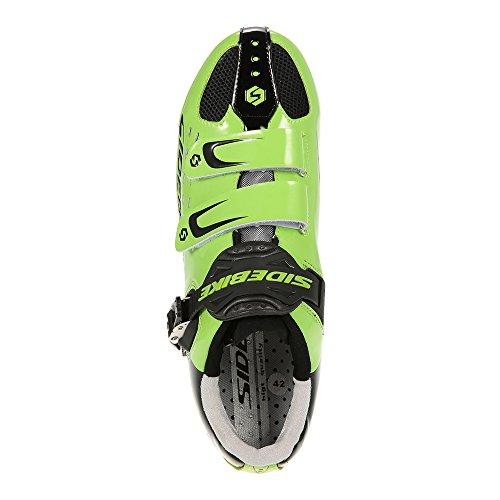 Docooler Chaussures de Courseles Hommes Brûlent Route vélo Chaussures de Course Professionnel Chaussures de Cyclisme vert