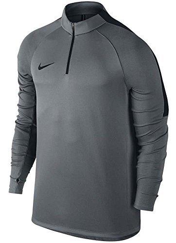Nike Herren Squad Langarm Training Shirt , Cool Grey/Black, L - Dri-fit-langarm-shirt